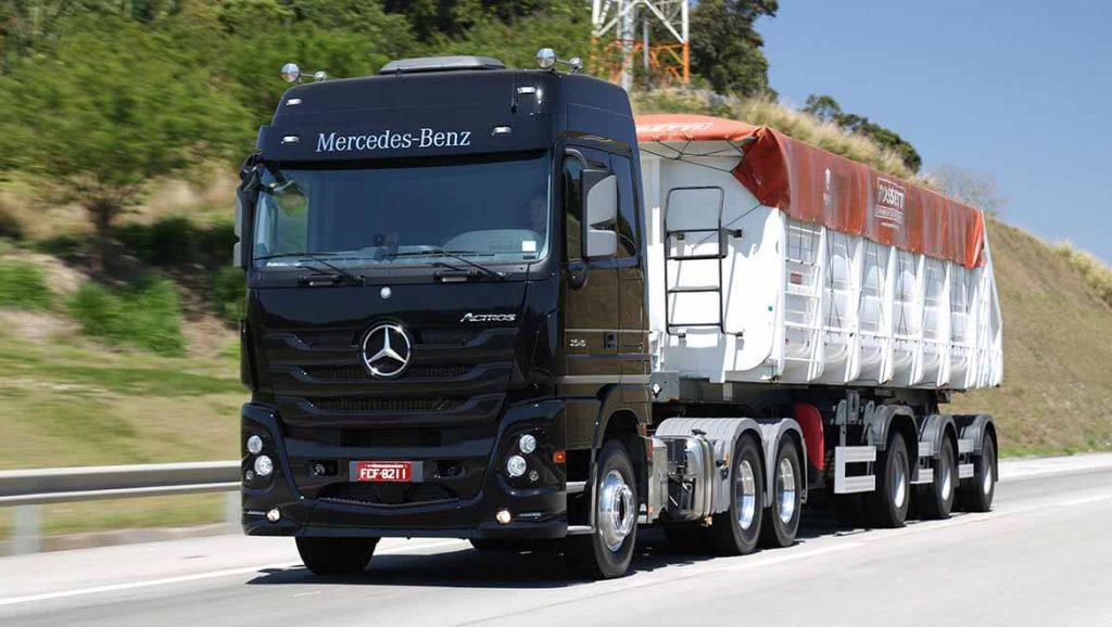 Caminhão Actros da Mercedes-Benz