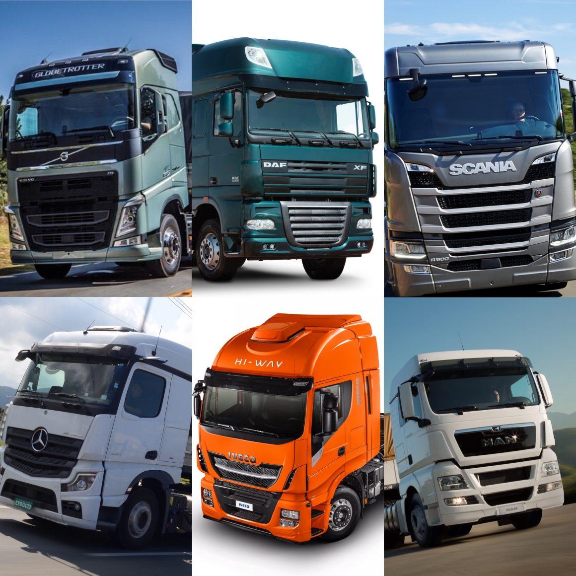 Mercado de caminhões crece 21,13 em maio em relação a abril