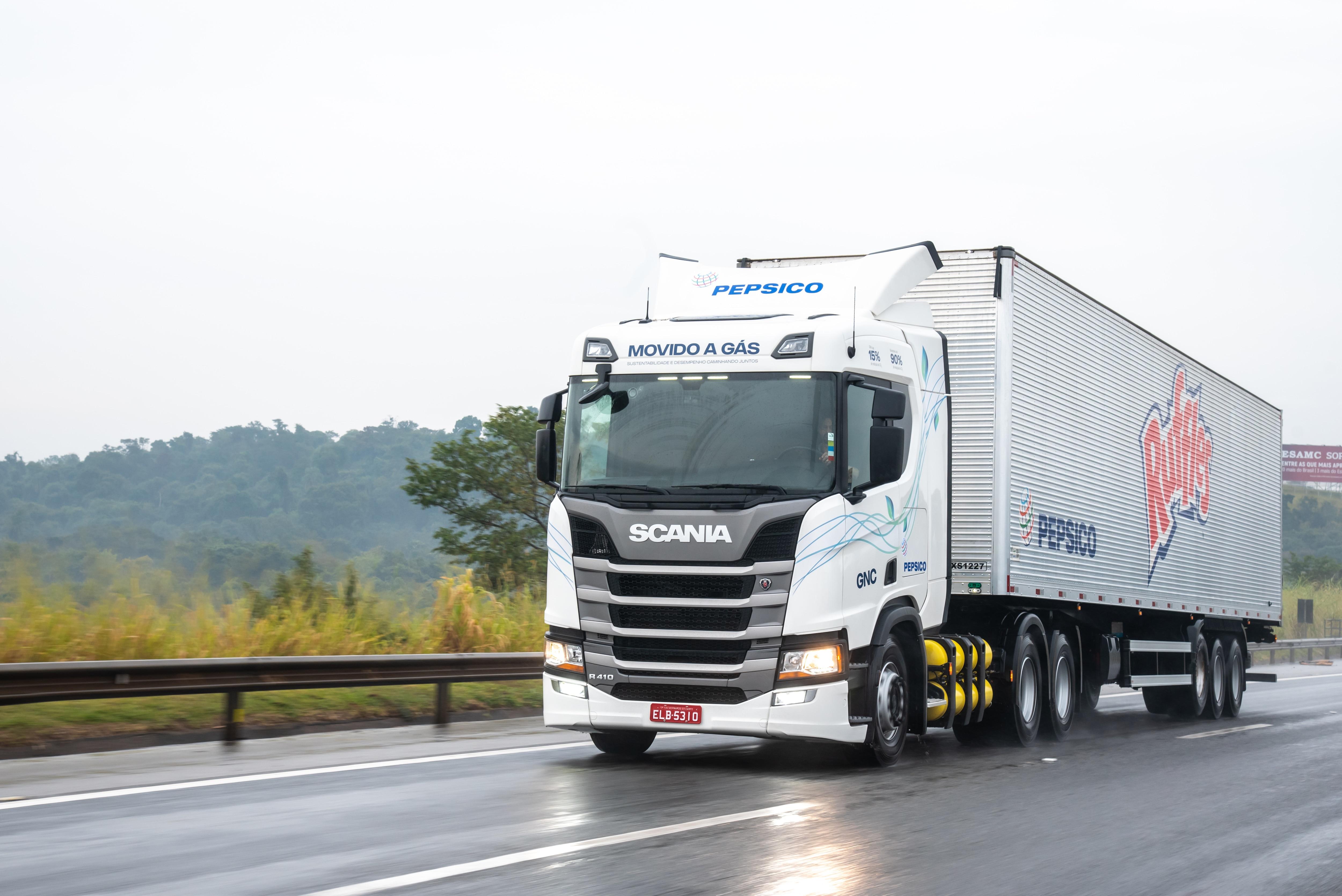 PepsiCo tem a maior frota de caminhão a gás do Brasil