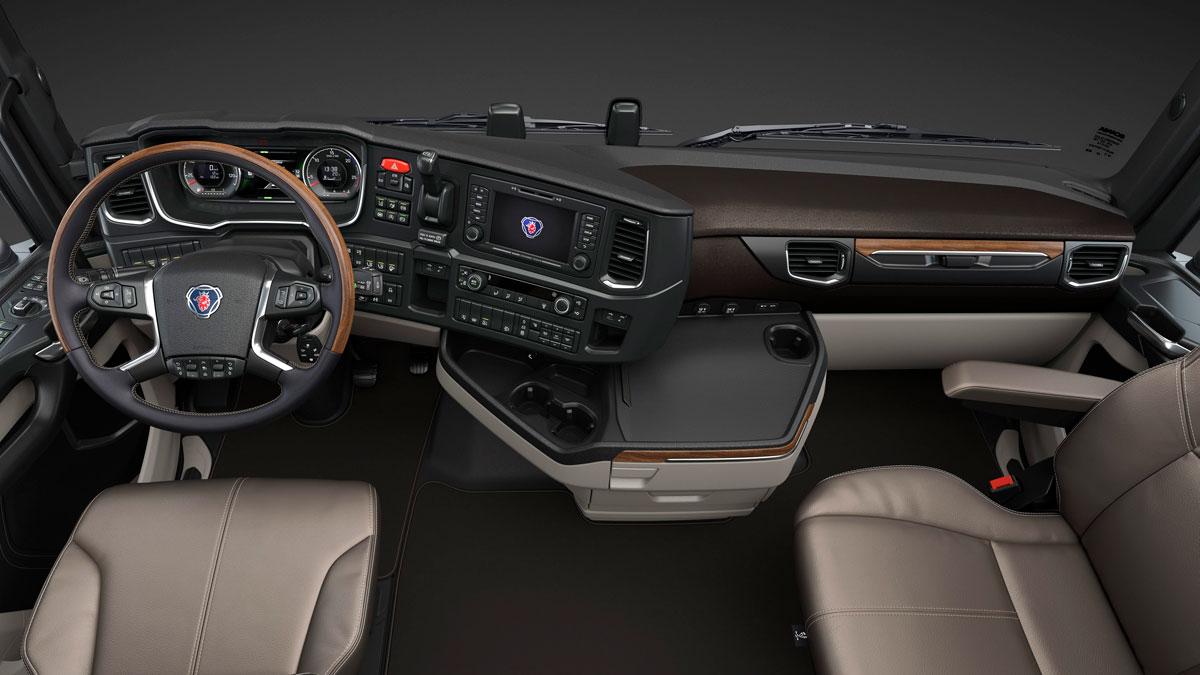 Cabine Scania parte de acabamento premium