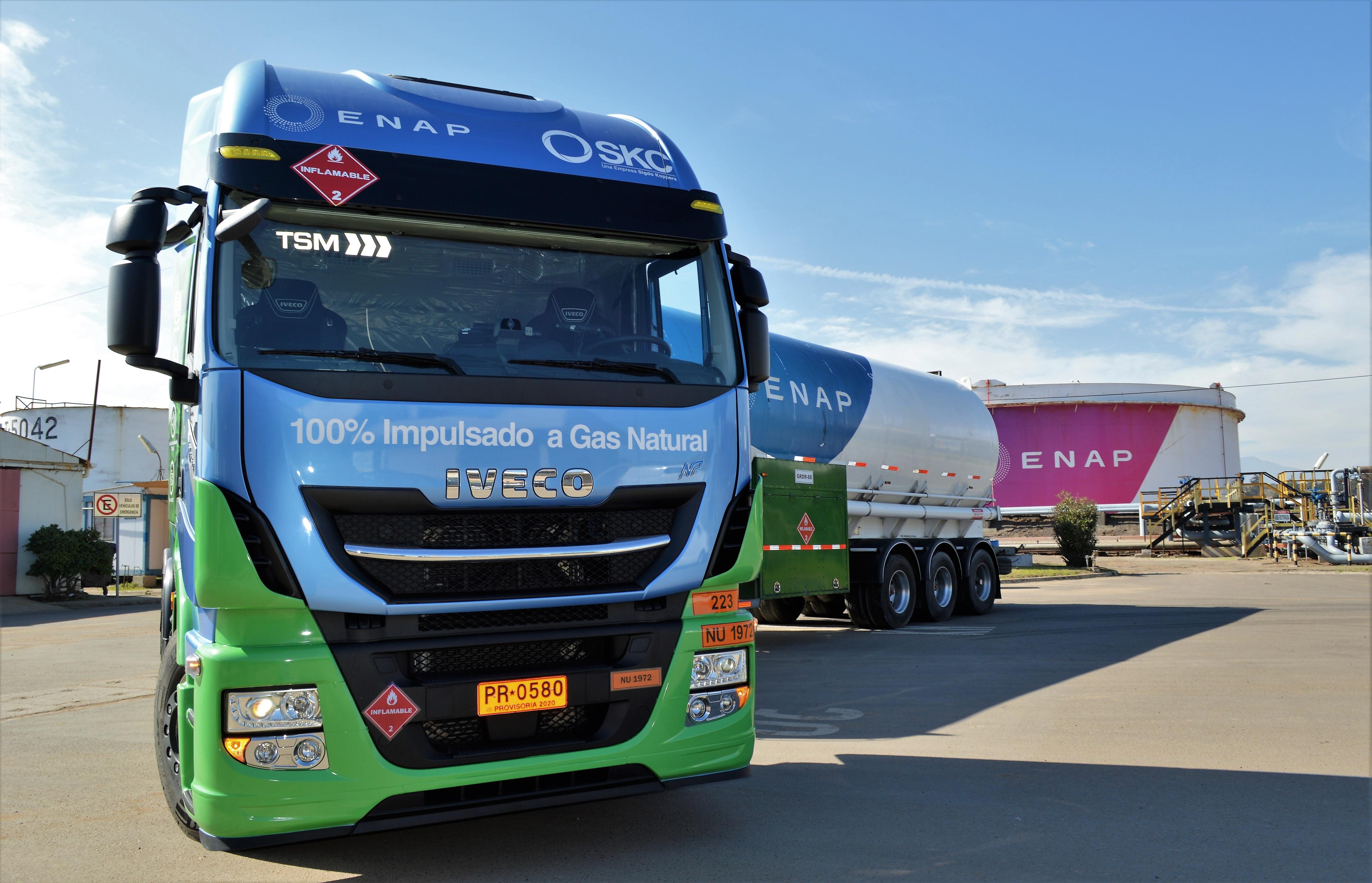 Iveco inicia testes de caminhão a gás no Chile