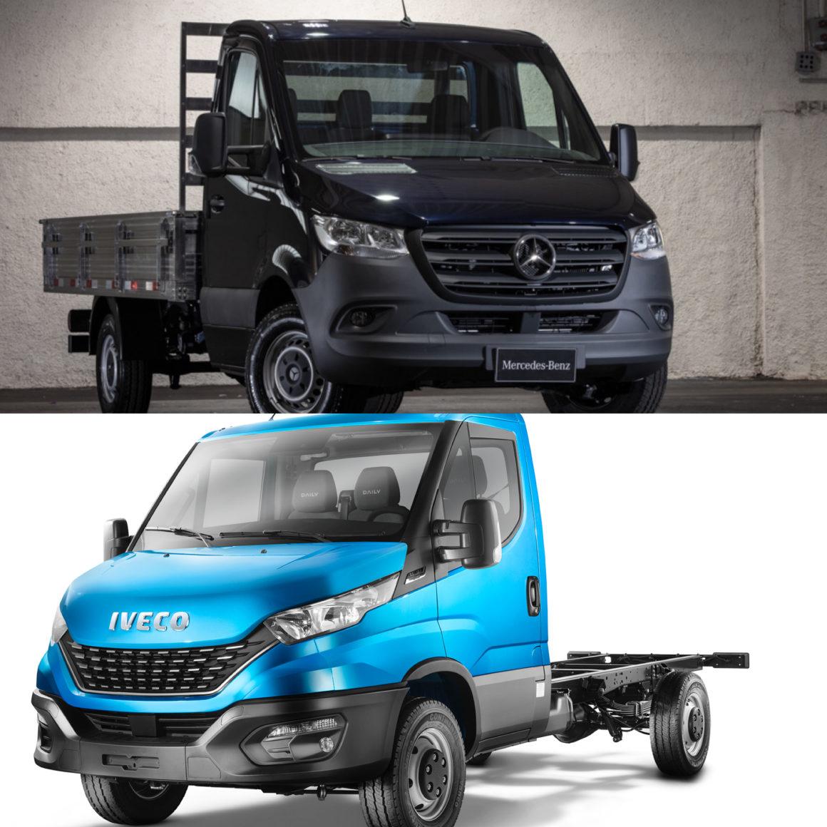 Daily e Sprinter elevam a categoria de chassi-cabine e furgões