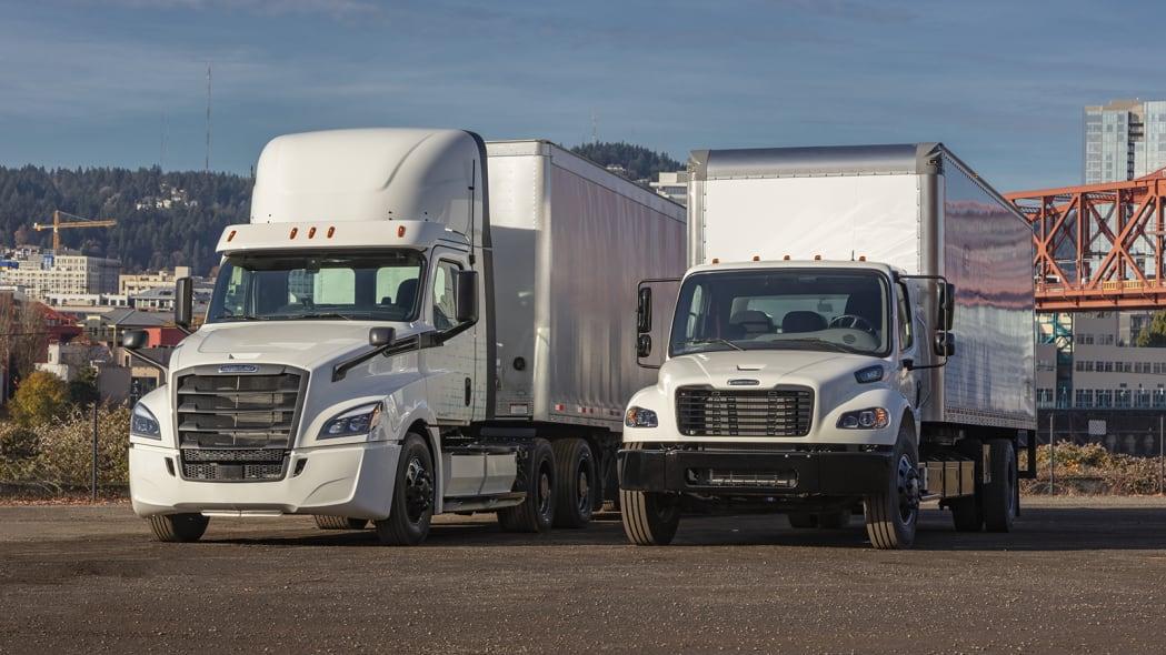 Caminhões elétricos da Freightliner